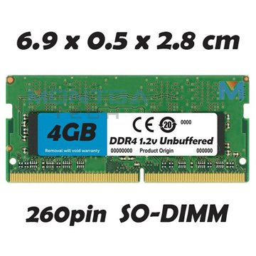 Memory RAM 4 GB SODIMM DDR4 for Computer Laptop HP 15-AY018NF