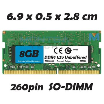 Memory RAM 8 GB SODIMM DDR4 for Computer Laptop HP 15-AY018NF
